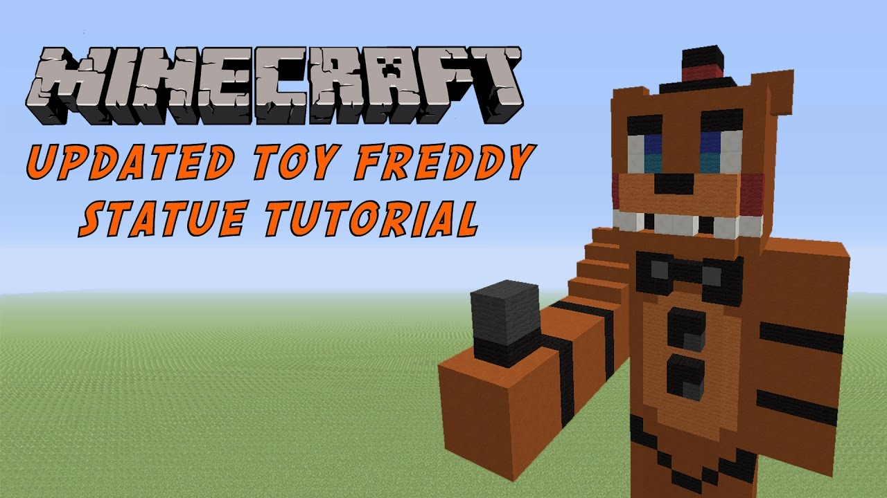 Minecraft Toy Freddy : Minecraft tutorial toy freddy fnaf world statue youtube