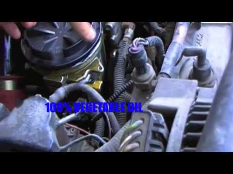 how to replace fuel filter 1997 ford diesel 73 - YouTube