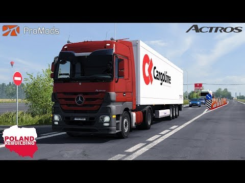 ETS2 1.30 - ProMods & Poland Rebuilding - Mercedes Benz Actros MP3 - Lithuania to Poland - ReShade