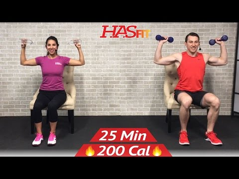25 Min Chair Exercises Sitting Down Workout Seated Exercise for Seniors, Limited Mobility, Elderly