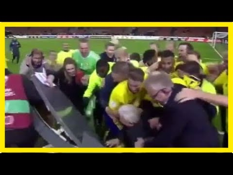 Sweden players crash live tv broadcast, break studio table after reaching world cup