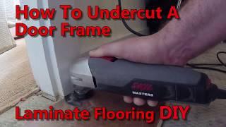 How To-Undercut Door Jambs For Laminate Flooring-DIY