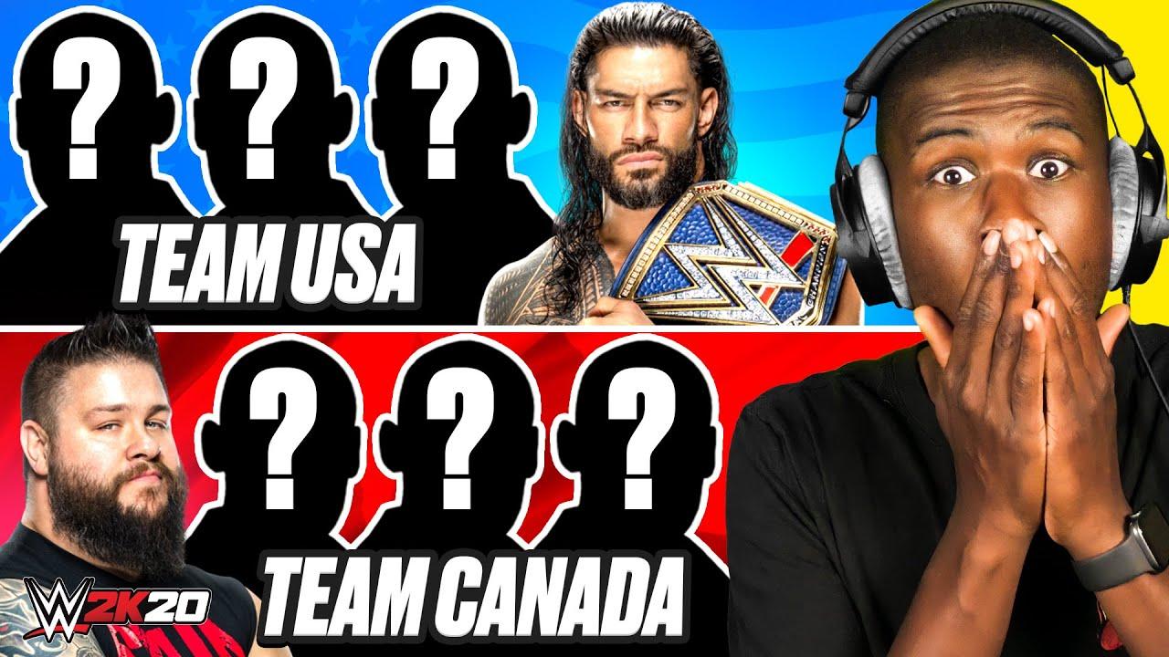 WWE 2K20 - 4 AMERICAN WRESTLERS vs 4 CANADIAN WRESTLERS!