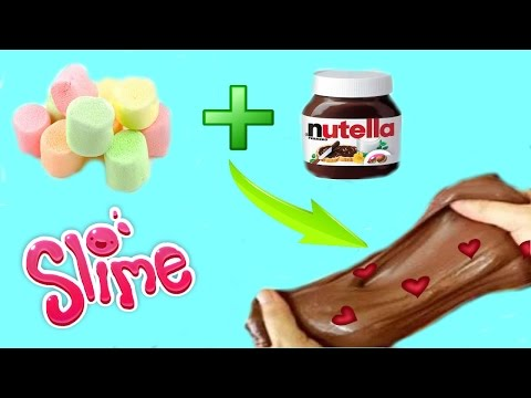 DIY NUTELLA SLIME СЪЕДОБНЫЙ ЛИЗУН из НУТЕЛЛЫ и МАРШМЕЛОУ