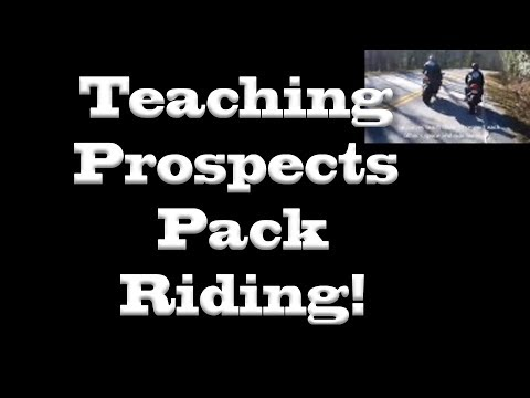 Teaching Prospects to Ride in the Pack