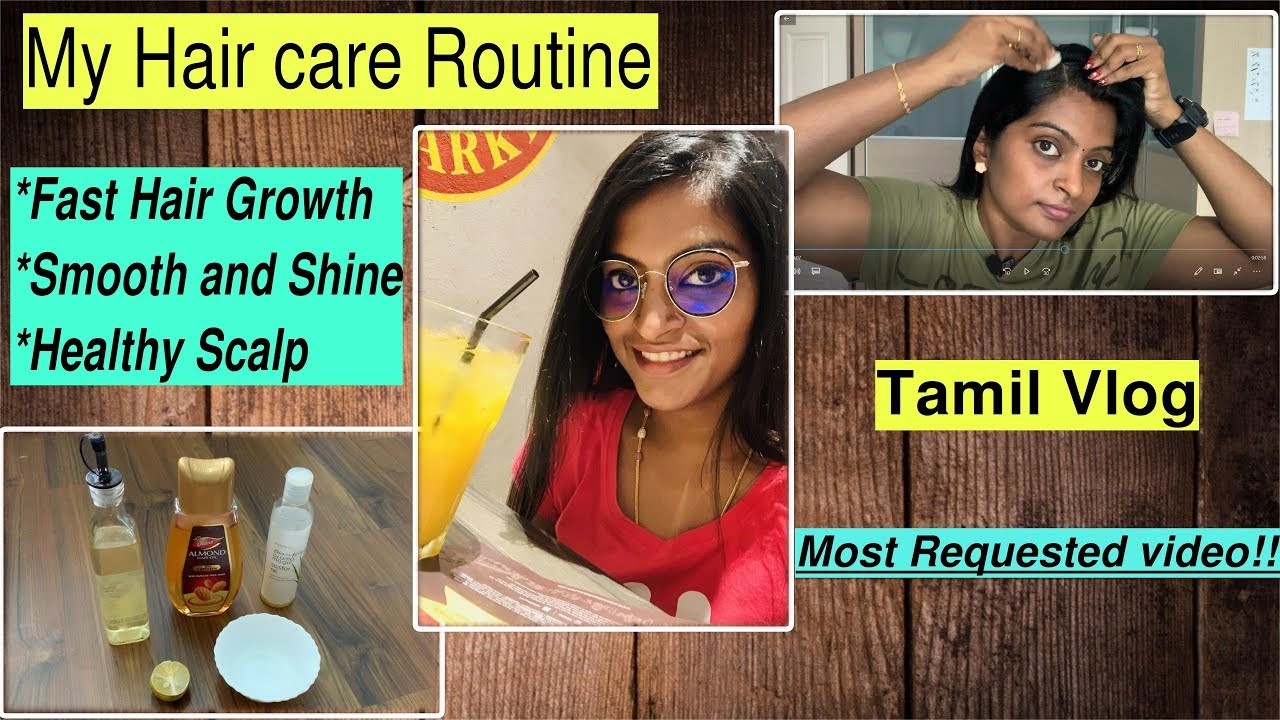 Smooth and fast hair Growth Remedy in Tamil  My Hair Care Routine  Home  remedy  tips oil massage
