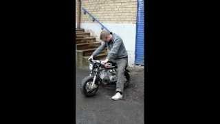 190cc drag monkey med frgasarstrul