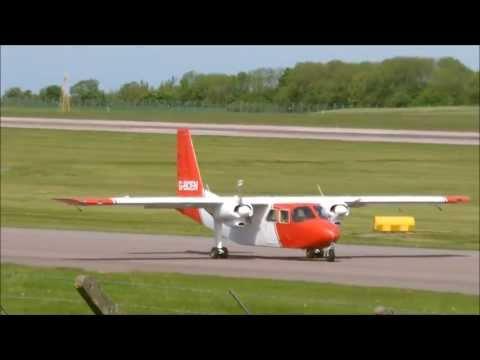 Britten Norman BN-2A-26 Islander | G-BCEN | Takeoff At East Midlands Airport | HD