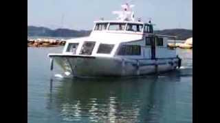 犬島港に入港するあけぼの丸 2013.9.19 あけぼの丸(TEL:086-947-0912)