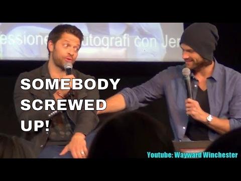 Misha Collins Reacts To Jared Padalecki Spoiling Castiel's Return In S13 . JIBcon 8