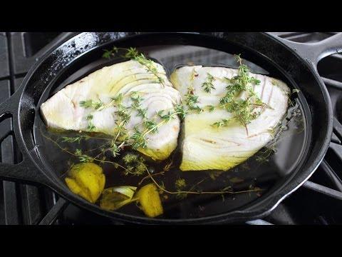 Olive Oil Poached Tuna - How To Make Tuna Confit & Conserva