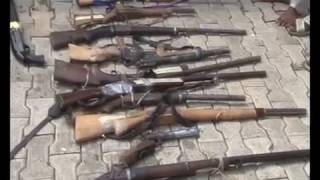 Nigerian Police Parade Dismissed Officer and Kidnappers