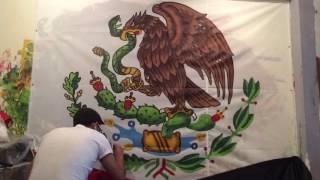 Video Bandera de México escudo pintado a mano download MP3, 3GP, MP4, WEBM, AVI, FLV Juli 2018