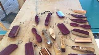 Abridores de Garrafa feitos com sobras de madeira