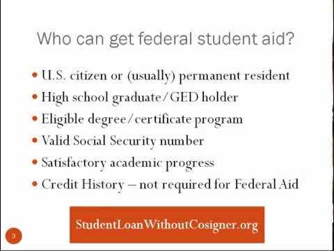 How To Apply For Federal Student Loan Without a Cosigner
