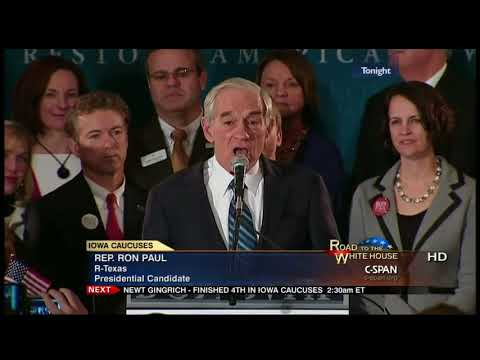 Ron Paul Classic: Iowa Caucus Speech Election 2012