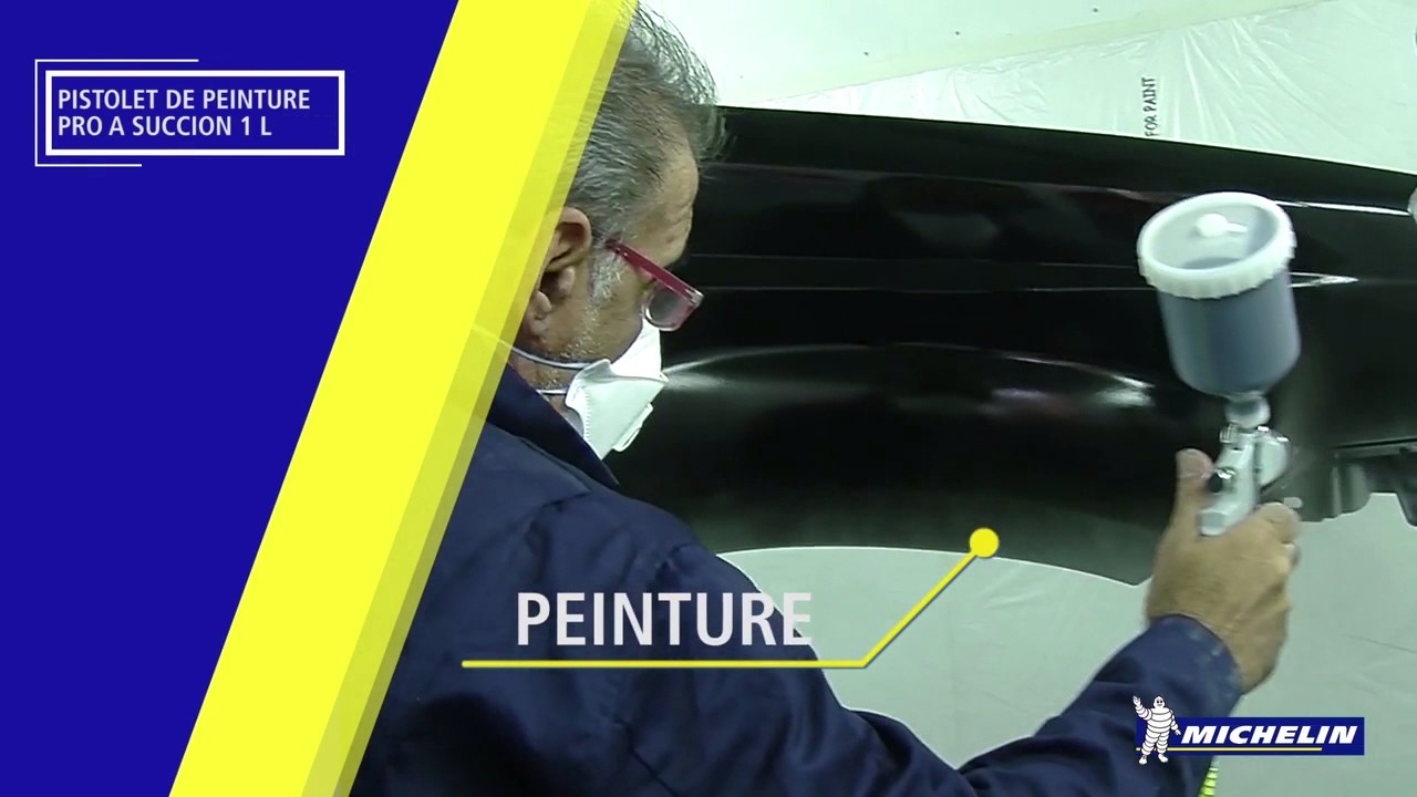 pistolet de peinture pro a gravite 0 6 l youtube. Black Bedroom Furniture Sets. Home Design Ideas