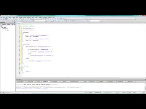 Basic C  #1 - Simple Login Program