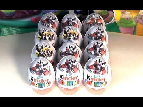 12 Kinder Surprise Transformers 2014 unboxing HD - распаковка Киндер Сюрприз Трансформеры 2014