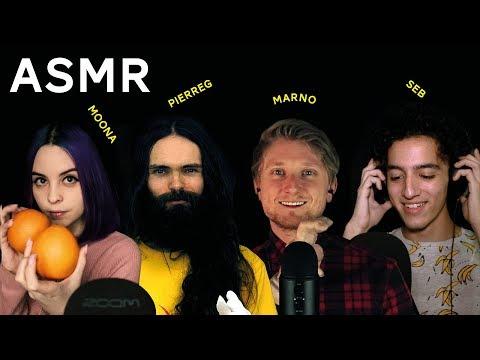 100 ASMR TRIGGERS WITH FRIENDS (Moona, Marno, Seb, PierreG)