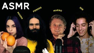 100 ASMR TRIGGERS WITH FRIENDS (Moona, Marno, Seb, PierreG)