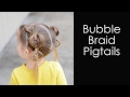Bubble braid pigtails - Toddler Hairstyles