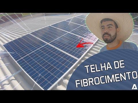 Como instalar um sistema fotovoltaico na telha de fibrocimento