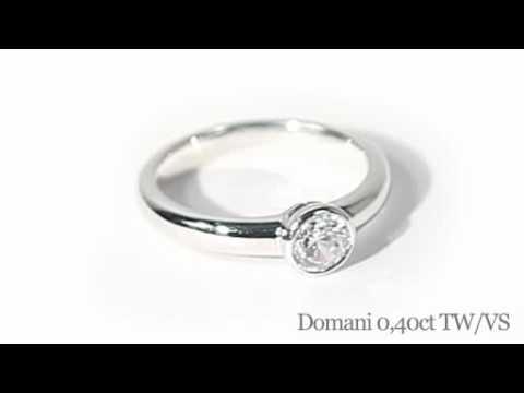 Domani diamantring 0,40 carat Top Wesselton / VS