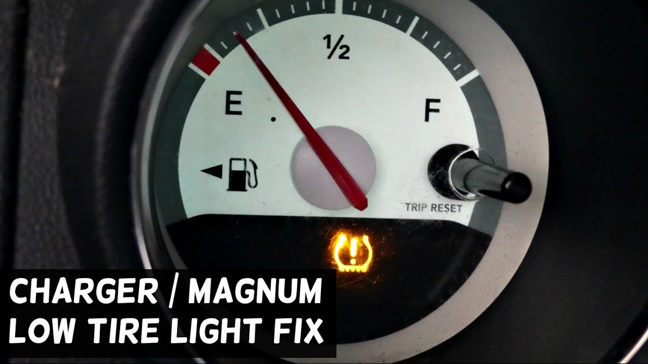 dodge charger tpms reset low tire pressure light reset