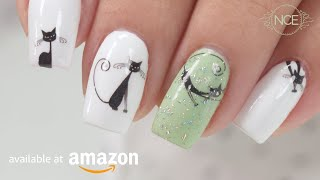 Cute Cat Nail Stickers - Nail Art Decals