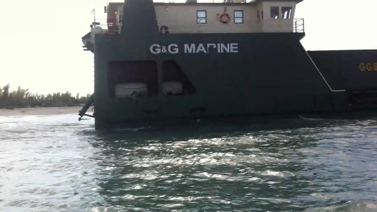 g g marine shipping on the beach bimini channel youtube