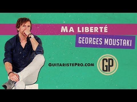Ma liberté (Georges Moustaki) - Tuto guitare acoustique