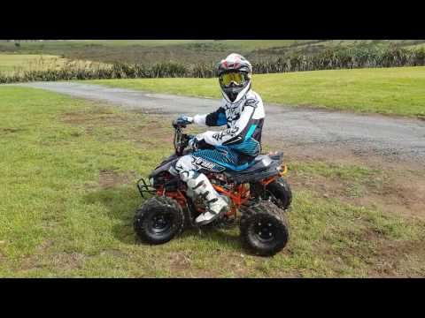 Action Video: NEW Warrior ATV (110cc) with Reverse Gear