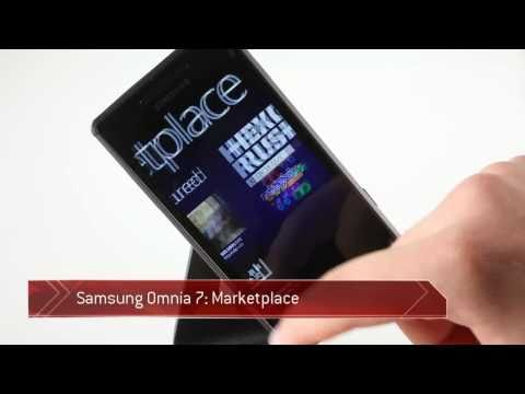 Samsung I8700 Omnia 7 Marketplace demo
