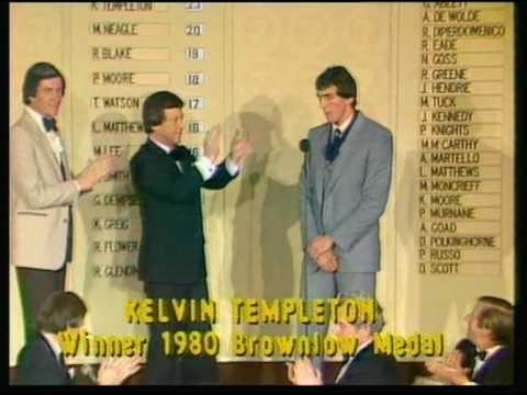 Kelvin Templeton Wins 1980 Brownlow Medal.