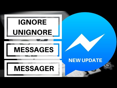 How To Ignore Messages And Unignore Messages On Messenger - New Update