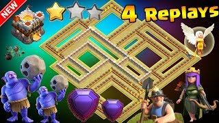 NEW UPDATE TH11 WAR BASE 2018 |💥4 Replays Anti 2 Star Anti Everything BoWitch,Miner,Anti Queen Walk