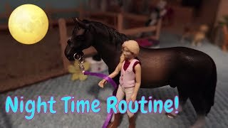 🐴🌓New! Schleich Horse Night Time Routine At Butterfly Stables!😴First Day TV