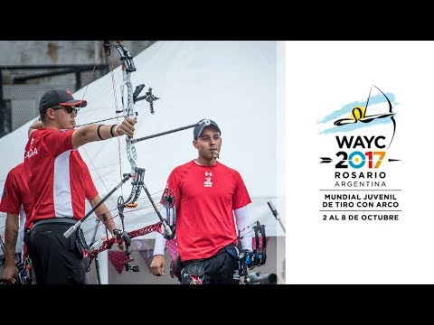 Mexico v Canada – compound junior men's team gold final | Rosario 2017