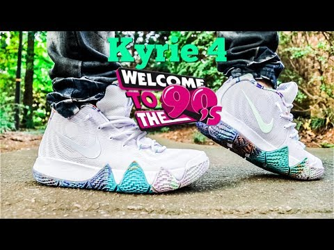 super popular 2f61d 79603 Nike Kyrie 4 90s Review & Fire On Feet!! - YouTube