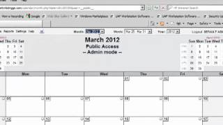 How to use the GoDaddy  web calendar