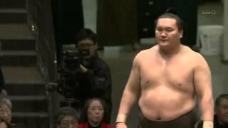 白鵬-鶴竜 優勝決定戦 大相撲初場所千秋楽.