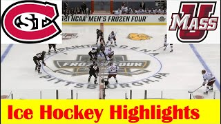 St. Cloud State Vs UMass Ice Hockey Game Highlights, 2021 NCAA National Championship