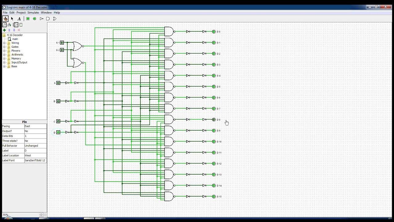 4 to 16 decoder [ 1280 x 720 Pixel ]