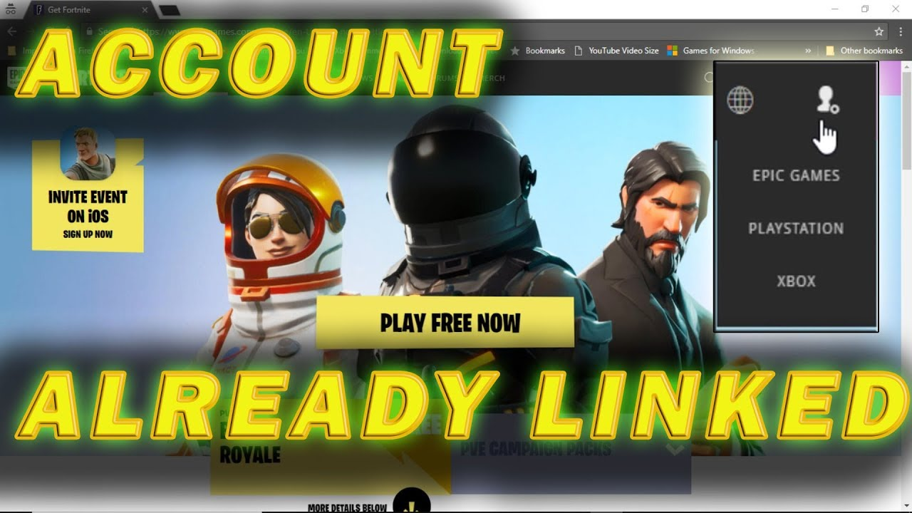 How To Fix Psn Or Xbox Account Already Linked To Epic Games Account Youtube