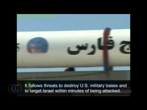 Missile tests broadcast on Iran TV