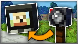 ✔️ How to Create SECURITY CAMERAS in Minecraft! (No Mods)