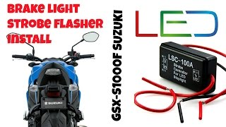 Brake Light Strobe Module Install, GSX-S1000/F Brake Flasher