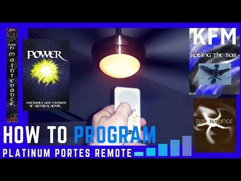 Ceiling Fan Remote Reprogram How To Program Harbor Breeze Platinum Portes Remote Control