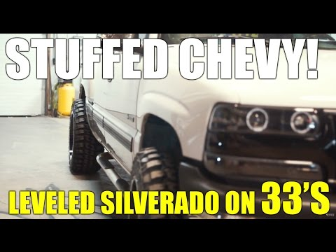 HOW TO Fit 33s and 20x12s on a Leveled Chevy Silverado 9906 1500 NORCAL MOD